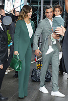 NEW YORK, NY - MAY 5: Cash Warren with Jessica Alba and Hayes Warren pictured to ring the Opening Bell at Nasdaq in New York City on May 05, 2021. <br /> CAP/MPI/RW<br /> ©RW/MPI/Capital Pictures