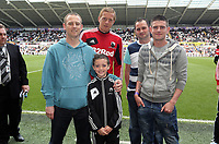Pictured: Garry Monk (C).<br /> Sunday 19 May 2013<br /> Re: Barclay's Premier League, Swansea City FC v Fulham at the Liberty Stadium, south Wales.