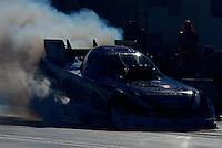 Oct. 26, 2012; Las Vegas, NV, USA: NHRA funny car driver Robert Hight during qualifying for the Big O Tires Nationals at The Strip in Las Vegas. Mandatory Credit: Mark J. Rebilas-
