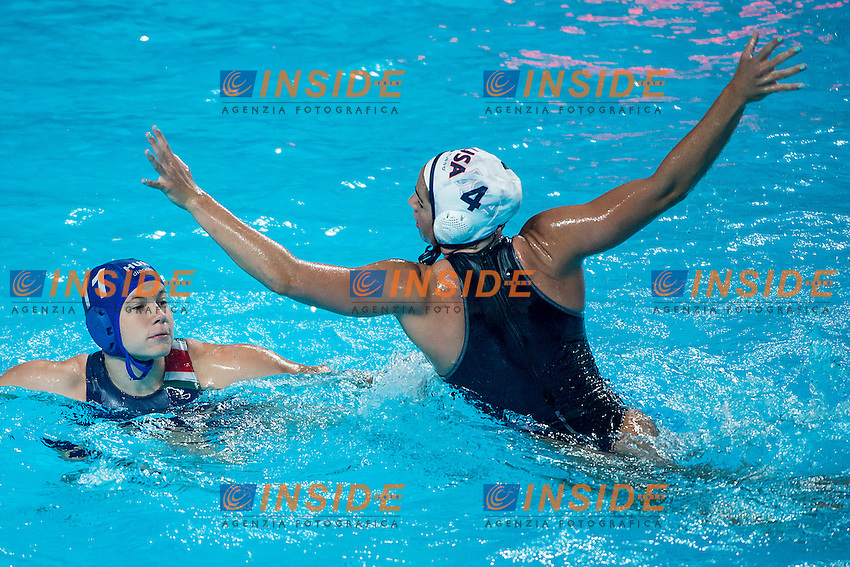 (L to R) GARDA Krisztina HUN, FATTAL Rachel USA<br /> Preliminary Round II<br /> Waterpolo - Waterpolo Arena<br /> Day09 01/08/2015<br /> XVI FINA World Championships Aquatics Swimming<br /> Kazan Tatarstan RUS July 24 - Aug. 9 2015 <br /> Photo A.Masini/Deepbluemedia/Insidefoto