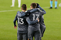 ST PAUL, MN - NOVEMBER 22: Robin Lod #17 of Minnesota United FC celebrates his goal during a game between Colorado Rapids and Minnesota United FC at Allianz Field on November 22, 2020 in St Paul, Minnesota.