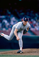 Roger Clemens of the Boston Red Sox during a 1988 season game at Anaheim Stadium,in Anaheim,California.(Larry Goren/Four Seam Images)