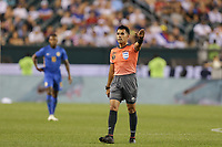 PHILADELPHIA, PENNSYLVANIA - JUNE 30: Adonai Escobedo during the 2019 CONCACAF Gold Cup quarterfinal match between the United States and Curacao at Lincoln Financial Field on June 30, 2019 in Philadelphia, Pennsylvania.