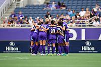 Orlando, FL - Saturday September 24, 2016: Orlando Pride prior to a regular season National Women's Soccer League (NWSL) match between the Orlando Pride and FC Kansas City at Camping World Stadium.