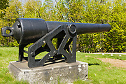 4.2-inch (30-pdr) Parrott rifle in Dover, New Hampshire. The gun was invented by Captain Robert Parker Parrot.