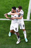 2nd July 2021; Allianz Arena, Munich, Germany; European Football Championships, Euro 2020 quarterfinals, Belgium versus Italy; Goal celebrations for 2-0 from Lorenzo Insigne