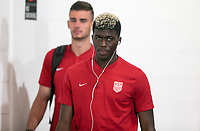 Cleveland, OH - Saturday July 15, 2017: Gyasi Zardes during a 2017 Gold Cup match between the men's national teams of the United States (USA) and Nicaragua (NCA) at FirstEnergy Stadium.