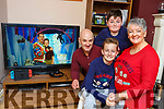 Denis Moroney Killorglin got to watch the Late Late Toy Show with his parents Mike and Lyn and brother Danielafter they returned from New York on Monday