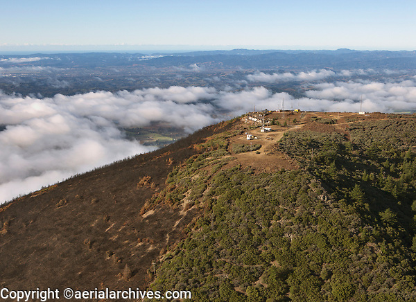 Tubbs Fire, Mount St. Helena, telecommunications towers California, northern California wildfires, 2017
