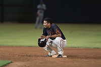 AZL Giants Black left fielder Franklin Labour (49) during an Arizona League game against the AZL Royals at Scottsdale Stadium on August 7, 2018 in Scottsdale, Arizona. The AZL Giants Black defeated the AZL Royals by a score of 2-1. (Zachary Lucy/Four Seam Images)