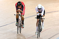 Hugo Jones of Canterbury and Boris Clark ME 4000m IP during the 2020 Vantage Elite and U19 Track Cycling National Championships at the Avantidrome in Cambridge, New Zealand on Thursday, 23 January 2020. ( Mandatory Photo Credit: Dianne Manson )