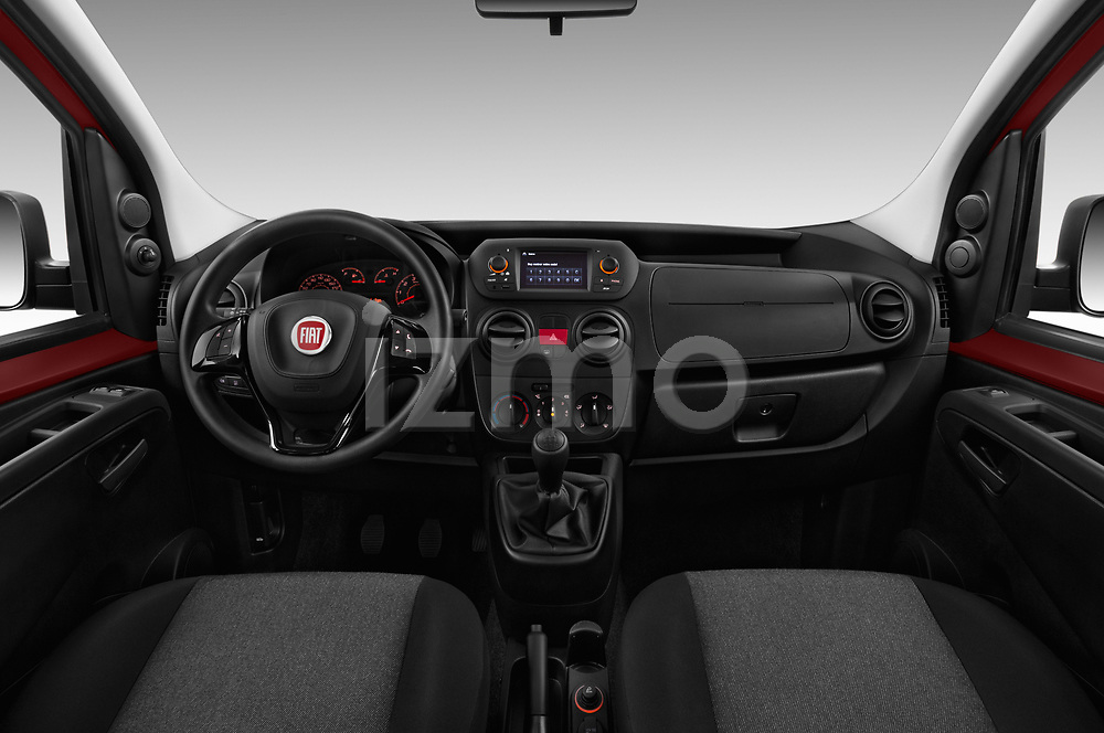 Stock photo of straight dashboard view of 2017 Fiat Qubo Easy 5 Door MPV
