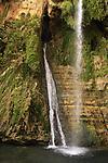 Israel, Judean Desert, David waterfall in Ein Gedi