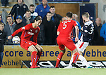 Falkirk claim for a last minute penalty as the ball hits off the arm of Bilel Mohsni