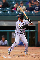 Jacksonville Suns catcher Sharif Othman (6) at bat during a game against the Chattanooga Lookouts on April 30, 2015 at AT&T Field in Chattanooga, Tennessee.  Jacksonville defeated Chattanooga 6-4.  (Mike Janes/Four Seam Images)