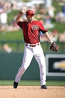 Chris Owings #64 of the Arizona Diamondbacks plays against the Chicago Cubs in a spring training game at Salt River Fields on March 13, 2011 in Scottsdale, Arizona. .Photo by:  Bill Mitchell/Four Seam Images.