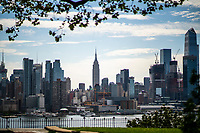 """NEW YORK, NEW YORK - SEPTEMBER 3: General view of Empire State Building and Middle Manhattan on September 3, 2020 in New York. U.S. President Trump has ordered to the federal government to begin the process to defund NYC and three other cities where protest """"lawless"""" were allowed and police budgets were cut, rising violent crime. (Photo by Eduardo MunozAlvarez/VIEWpress via GettyImages)"""