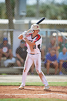 Dylan Russo (28) during the WWBA World Championship at the Roger Dean Complex on October 10, 2019 in Jupiter, Florida.  Dylan Russo attends Keller High School in Keller, TX and is Uncommitted.  (Mike Janes/Four Seam Images)