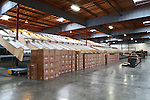 Interior large warehouse with freight.
