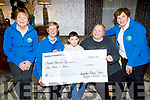Bellfield Nurseries present a cheque of €1,000 to the Kerry Hospice on Friday in the Meadowlands Hotel. <br /> Seated l to r: Ita Behan, Maura O'Sullivan, Jayden and Samantha Sugrue and Bridie O'Connor.