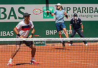 Paris, France, 1 june 2021, Tennis, French Open, Roland Garros, First round doubles match:  Jean-Julien Rojer (NED) and Wesley Koolhof (NED) (R)<br /> Photo: tennisimages.com