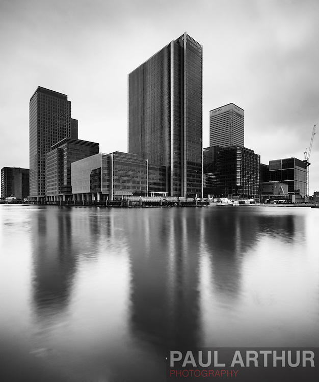 Canary Wharf in Black & White