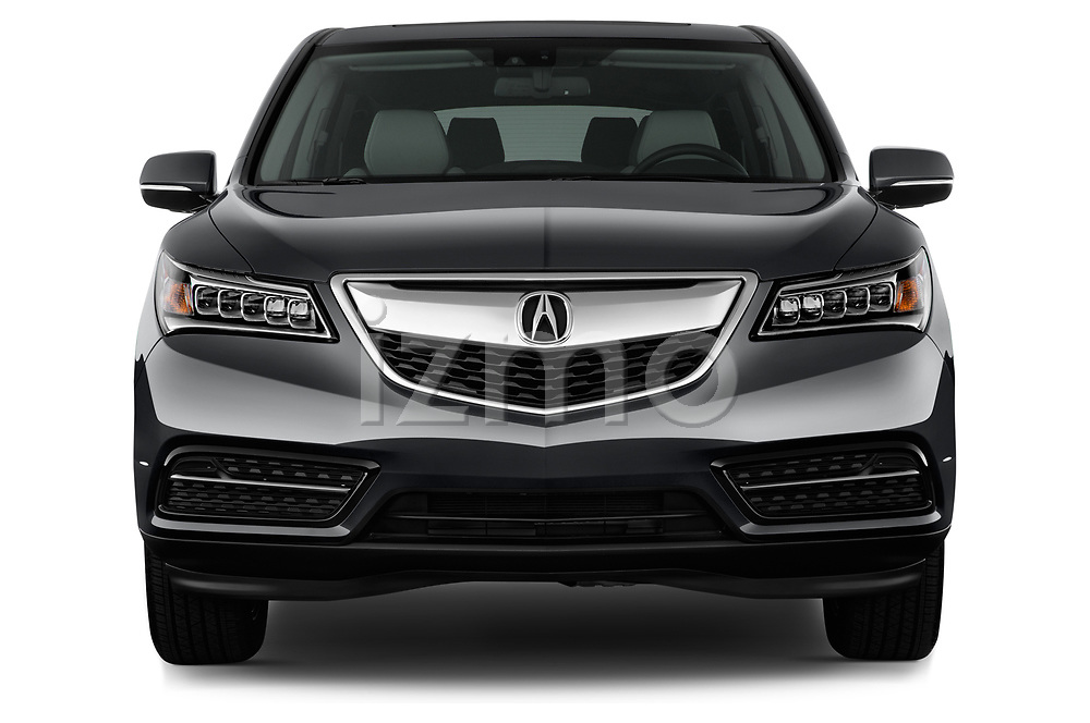 Car photography straight front view of a 2014-2016 Acura MDX Technology 5 Door SUV