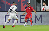 WASHINGTON, D.C. - OCTOBER 11: Cristian Roldan #15 of the United States looks for an open man during their Nations League game versus Cuba at Audi Field, on October 11, 2019 in Washington D.C.