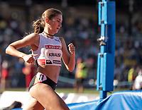 4th July 2021; Stockholm Olympic Stadium, Stockholm, Sweden; Diamond League Grand Prix Athletics, Bauhaus Gala; Gesa Krause leads the women's  3000m Steeple Chase