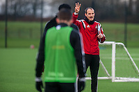 Wednesday  06 January 2016<br /> Pictured: David Adams <br /> Re: Swansea City Training session at the Fairwood training ground, Swansea, Wales, UK