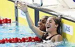Toronto, Ontario, August 12, 2015. Aurelie Rivard win gold and Katarina Roxon won silver in the women's  200m IM swimming during the 2015 Parapan Am Games . Photo Scott Grant/Canadian Paralympic Committee