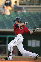 August 16 2009: Andrew Simunic of the Lancaster JetHawks during game against the Bakersfield Blaze at Clear Channel Stadium in Lancaster,CA.  Photo by Larry Goren/Four Seam Images