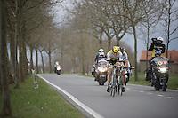 Sep Vanmarcke (BEL/LottoNL-Jumbo) taking his turn up front, ultimately battling for victory<br /> <br /> 78th Gent - Wevelgem in Flanders Fields (1.UWT)