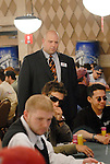 Tournament staff keeps a watchful eye