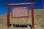 Memorial to the Hee-Hee stone near Bonaparte, Washington commemorates the stones place in local Native American heritage.