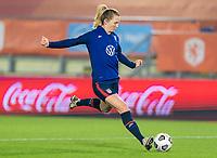 BREDA, NETHERLANDS - NOVEMBER 27: Samantha Mewis #3 of the USWNT warms up before a game between Netherlands and USWNT at Rat Verlegh Stadion on November 27, 2020 in Breda, Netherlands.