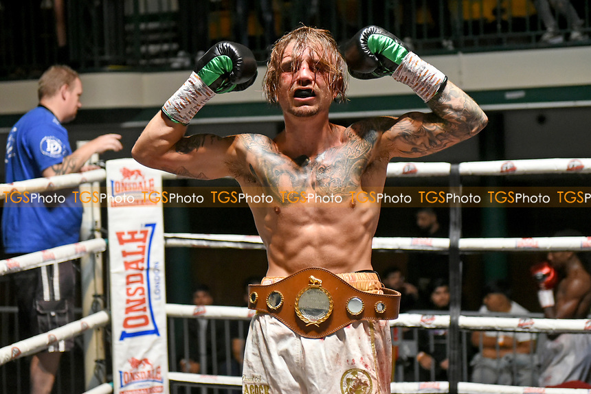 Billy Allington (black gloves) defeats Jumaane Camero during a Boxing Show at York Hall on 11th September 2021