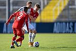 v.li.: Remy Vita Bayern München, FCB, 2) Marcel Risse (Viktoria Köln, 31) Kilian Senkbeil (Bayern München, FCB, 13) im Zweikampf, Duell, duel, tackle, Dynamik, Action, Aktion beim Spiel in der 3. Liga, FC Bayern Muenchen II - FC Viktoria Koeln.<br /> <br /> Foto © PIX-Sportfotos *** Foto ist honorarpflichtig! *** Auf Anfrage in hoeherer Qualitaet/Aufloesung. Belegexemplar erbeten. Veroeffentlichung ausschliesslich fuer journalistisch-publizistische Zwecke. For editorial use only. DFL regulations prohibit any use of photographs as image sequences and/or quasi-video.
