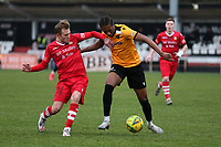 Liam Nash of Hornchurch and Jaydn Mundle-Smith of Maidstone during Hornchurch vs Maidstone United, Buildbase FA Trophy Football at Hornchurch Stadium on 6th February 2021