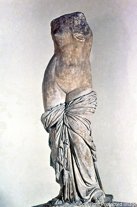 Greek Art:  Aphrodite of Sinvessa, in Roman Campania.  Greek original.  National Museum, Naples.