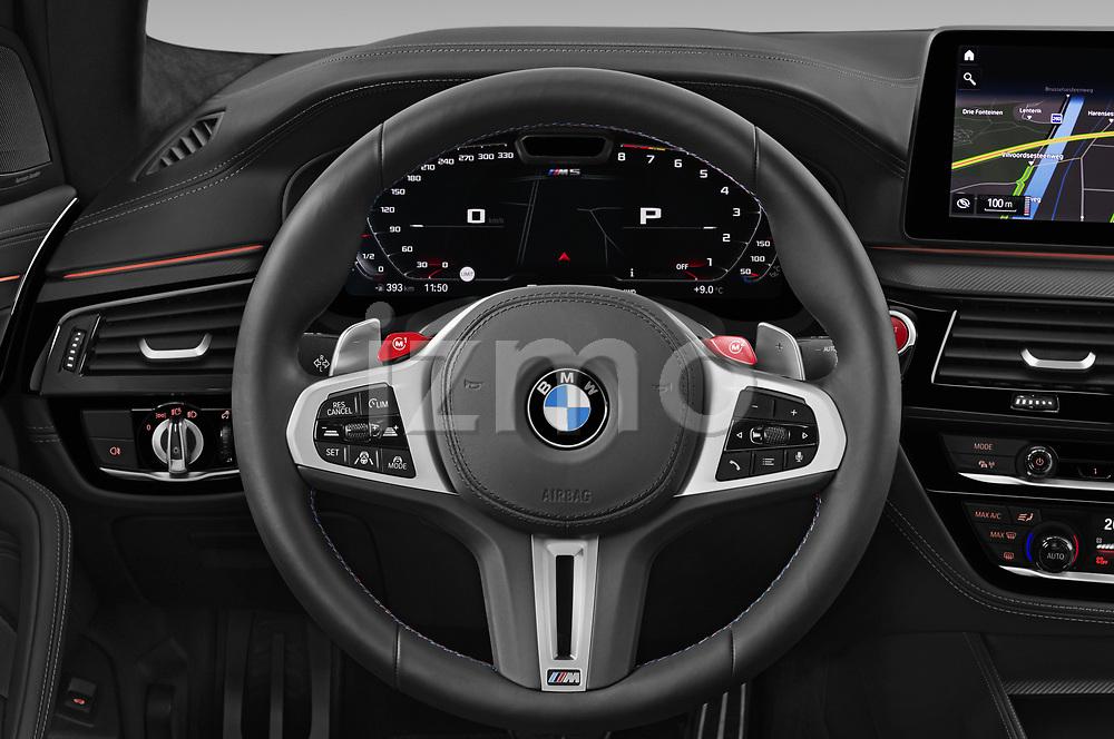 Steering wheel view of a 2021 BMW M5 Competition 4 Door Sedan