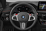 Car pictures of steering wheel view of a 2021 BMW M5 Competition 4 Door Sedan Steering Wheel
