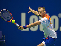 21-12-13,Netherlands, Rotterdam,  Topsportcentrum, Tennis Masters, Thomas Schoorel (NED)<br /> Photo: Henk Koster
