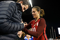 San Jose, CA - Sunday November 12, 2017: Carli Lloyd during an International friendly match between the Women's National teams of the United States (USA) and Canada (CAN) at Avaya Stadium.