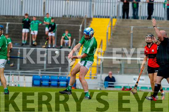 Sean O'Connor, Ballyduff, during the Kerry County Minor Hurling Championship Final match between Ballyduff and Ballyheigue at Austin Stack Park in Tralee, Kerry.