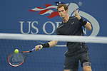 Andy Murray (GBR) takes the first set against Nick Kyrgios (AUS) 7-5 at the US Open in Flushing, NY on September 1, 2015.