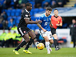 St Johnstone v Hamilton Accies…10.11.18…   McDiarmid Park    SPFL<br />Matty Kennedy and Delphin Tshiembe<br />Picture by Graeme Hart. <br />Copyright Perthshire Picture Agency<br />Tel: 01738 623350  Mobile: 07990 594431