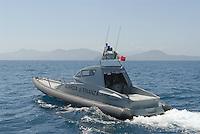 - Financial police,  Falco V. 600 class fast patrol boat off the island of Elba....- Guardia di Finanza, vedetta veloce classe Falco V. 600 al largo dell'isola d'Elba