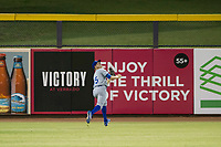 AZL Royals center fielder Isaiah Smith (15) on defense against the AZL Mariners on July 29, 2017 at Peoria Stadium in Peoria, Arizona. AZL Royals defeated the AZL Mariners 11-4. (Zachary Lucy/Four Seam Images)