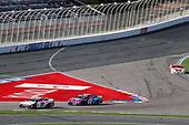 #11: Denny Hamlin, Joe Gibbs Racing, Toyota Camry FedEx Office, #48: Alex Bowman, Hendrick Motorsports, Chevrolet Camaro Ally x Charlotte FC
